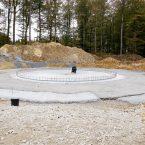 Fundament-Vorbereitung für WEA 1; Durchmesser über 20 Meter.
