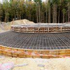 Fertige Schalung an WEA 3: Bereit für 600 m3 Beton
