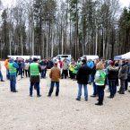 In den knapp drei Stunden kamen 300 bis 400 Besucher zum Fundament der WEA 1.