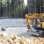 Die Fundamentsohlen sind planiert und wartet auf den ersten Beton.