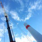 Turm WEA 1 aus der Froschperspektive